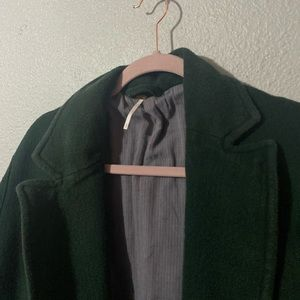 Free people dark green blazer coat